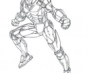 Coloriage Iron Man Portrait
