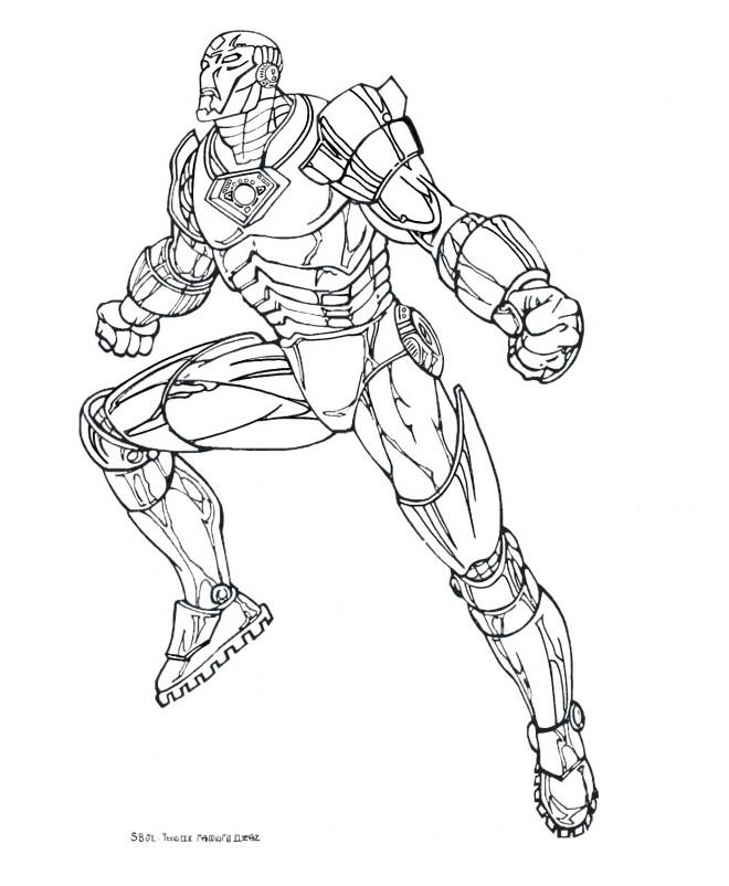 Coloriage et dessins gratuits Iron Man Portrait à imprimer