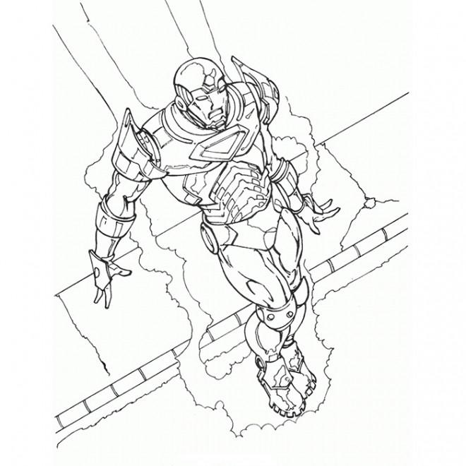 Coloriage et dessins gratuits Iron Man pour adulte à imprimer