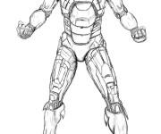 Coloriage et dessins gratuit Iron Man réaliste à imprimer