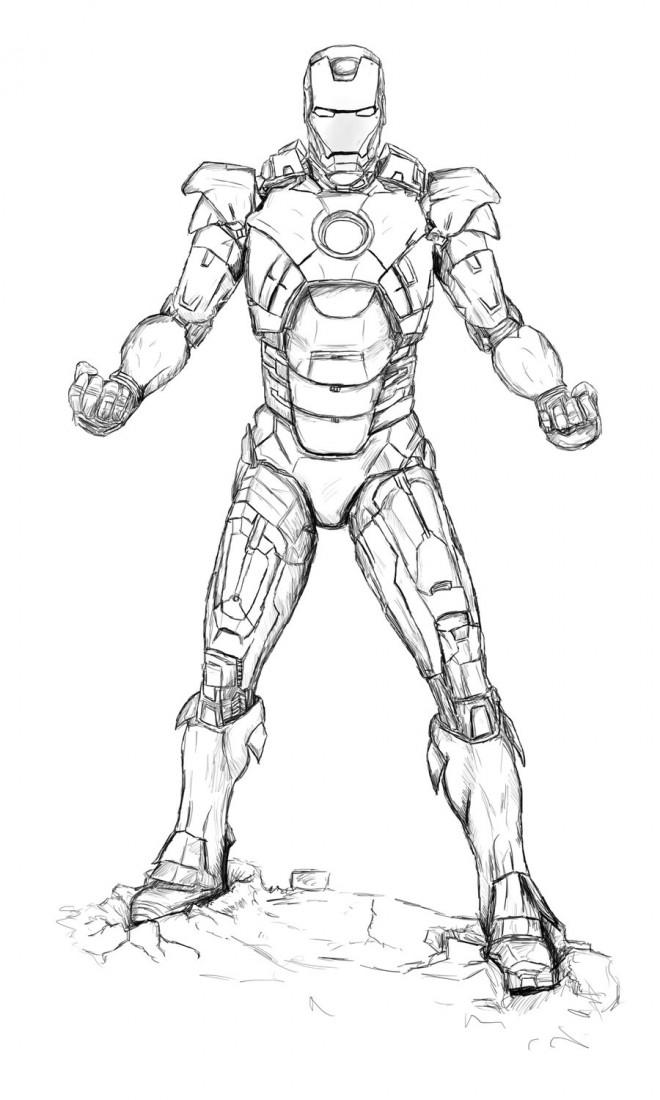 Coloriage Iron Man Realiste Dessin Gratuit A Imprimer