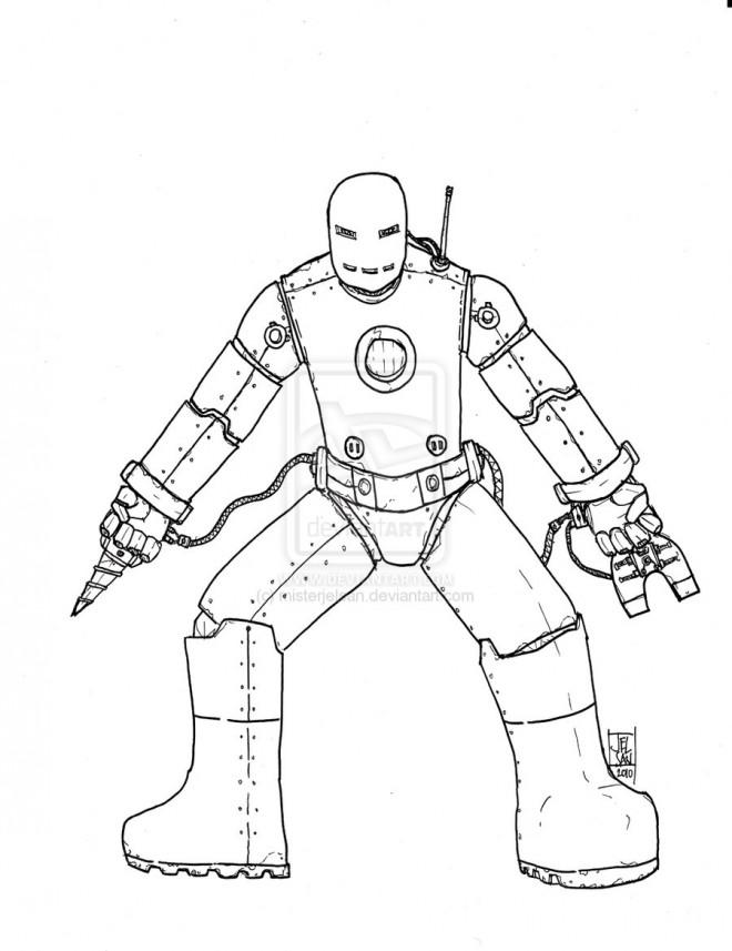 Coloriage et dessins gratuits Iron Man simple à imprimer