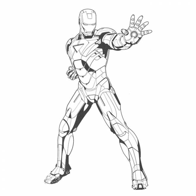 Coloriage et dessins gratuits Iron Man simple à colorier à imprimer