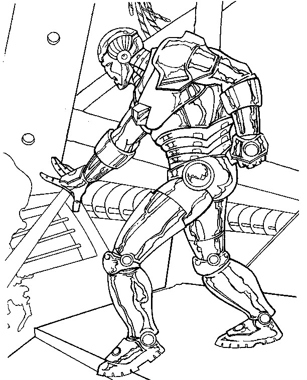Coloriage et dessins gratuits Iron Man sur ordinateur à imprimer
