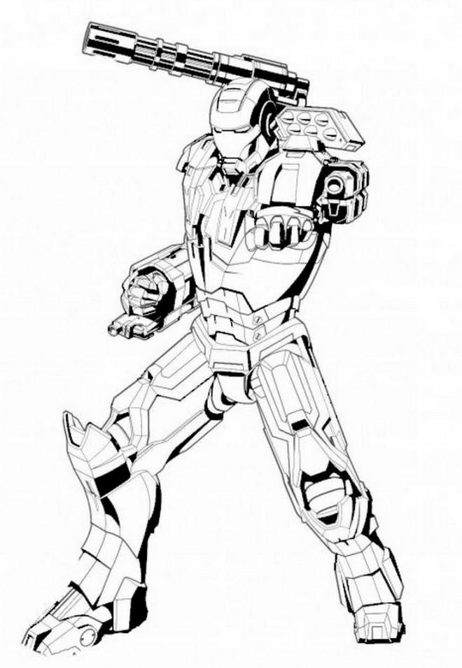 Coloriage et dessins gratuits Iron Man vectoriel à imprimer
