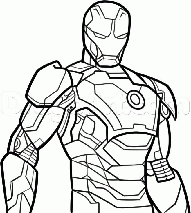 Coloriage Iron Man Vectoriel à Colorier Dessin Gratuit à