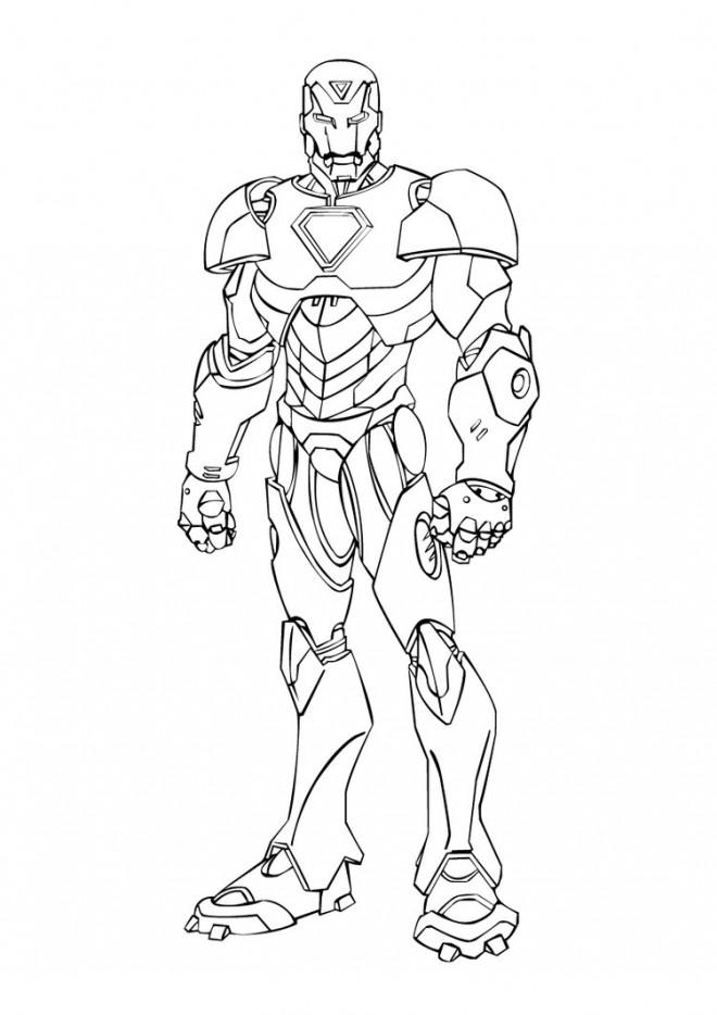 Coloriage et dessins gratuits Iron Man vue de face à imprimer