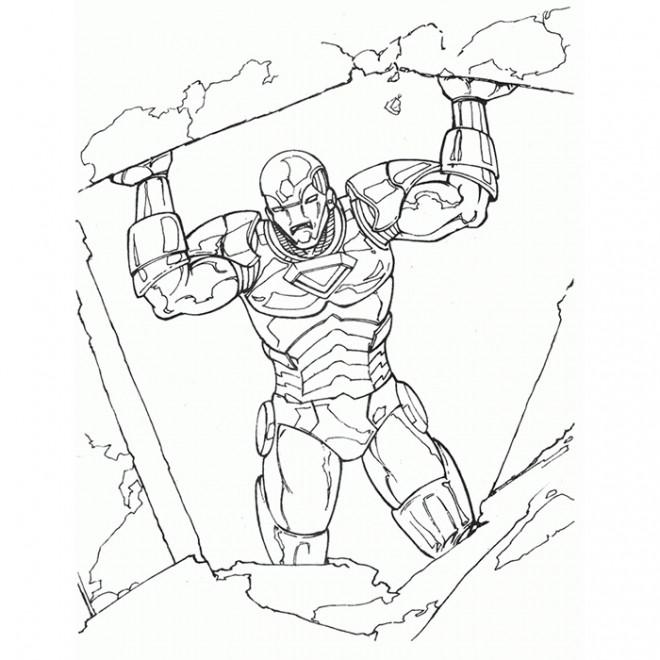 Coloriage et dessins gratuits L'héro Iron Man à imprimer