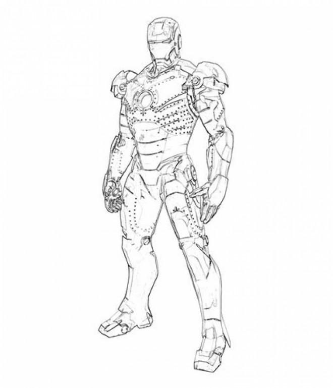 Coloriage et dessins gratuits Portrait Iron Man à imprimer