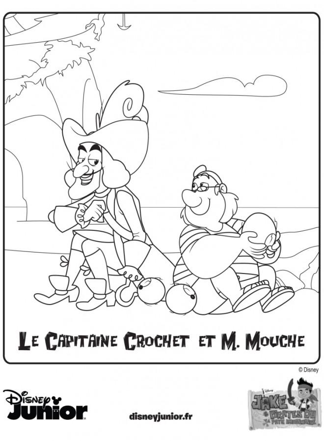 Coloriage et dessins gratuits Capitaine Crochet et M.Mouche à imprimer