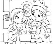Coloriage et dessins gratuit Jack et Izzy à imprimer