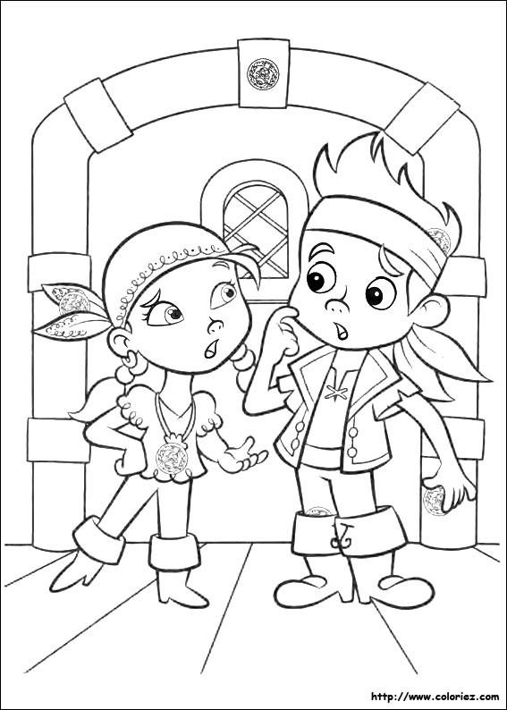 Coloriage et dessins gratuits Jack et Izzy à imprimer