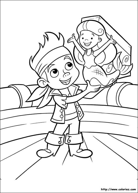 Coloriage et dessins gratuits Jack et la Sirène à imprimer
