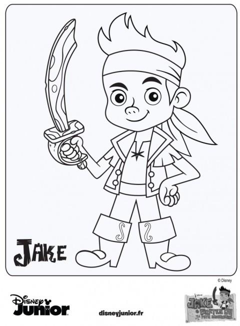 Coloriage et dessins gratuits Jack et les Pirates à colorier à imprimer