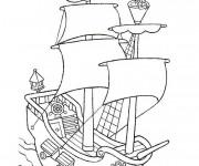 Coloriage et dessins gratuit Jack et les Pirates couleur à imprimer