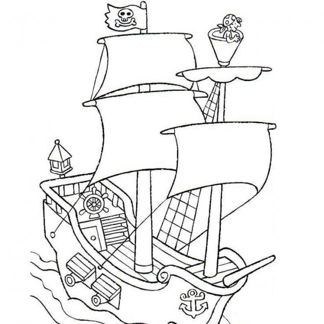 Coloriage et dessins gratuits Jack et les Pirates couleur à imprimer