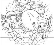 Coloriage et dessins gratuit Jack et les Pirates dansent à imprimer