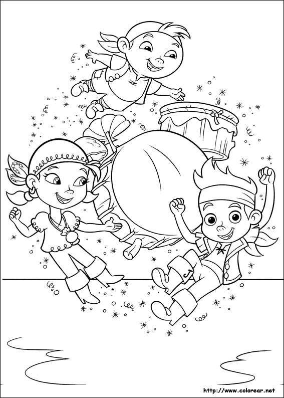 Coloriage et dessins gratuits Jack et les Pirates dansent à imprimer