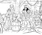 Coloriage et dessins gratuit Jack et les Pirates de Caraïbes à imprimer