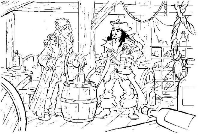 Coloriage et dessins gratuits Jack et les Pirates de Caraïbes à imprimer