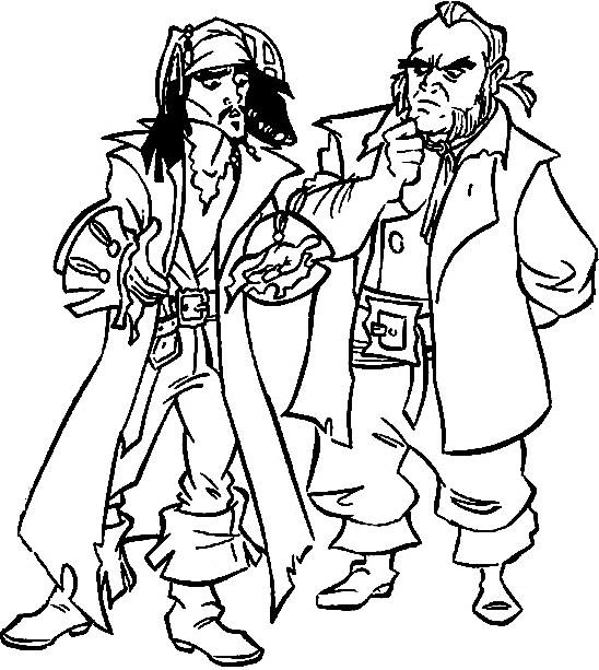 Coloriage et dessins gratuits Jack et les Pirates des Caraïbes Film à imprimer