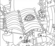 Coloriage et dessins gratuit Jack et les Pirates dessin animé à imprimer