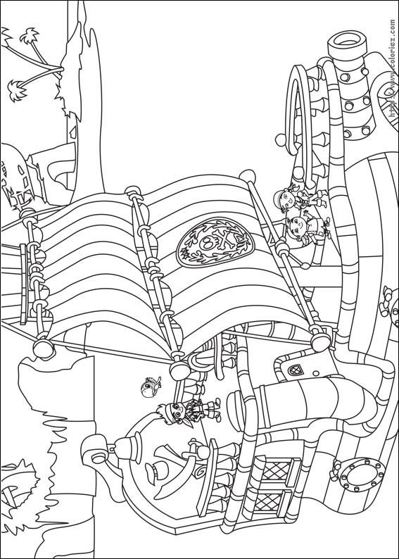 Coloriage et dessins gratuits Jack et les Pirates dessin animé à imprimer