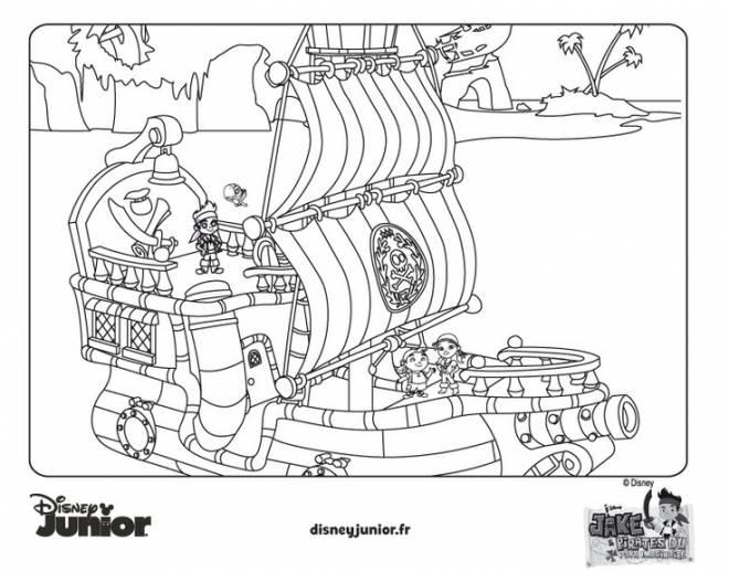 Coloriage Jack Et Les Pirates Disney Junior Dessin Gratuit A Imprimer