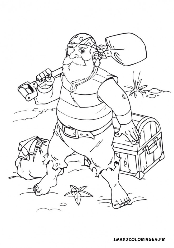 Coloriage et dessins gratuits Jack et les Pirates Et L'île de Trésor à imprimer