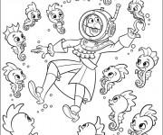 Coloriage et dessins gratuit Jack et les Pirates  et le fond marin tout vif à imprimer