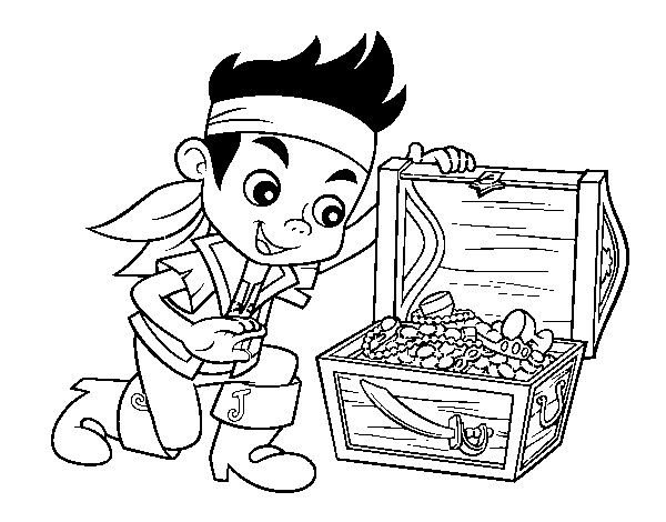 Coloriage et dessins gratuits Jack et les Pirates et Le Trésor à imprimer
