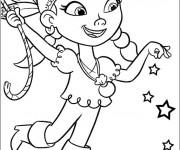 Coloriage et dessins gratuit Jack et les Pirates Izzy stylisé à imprimer
