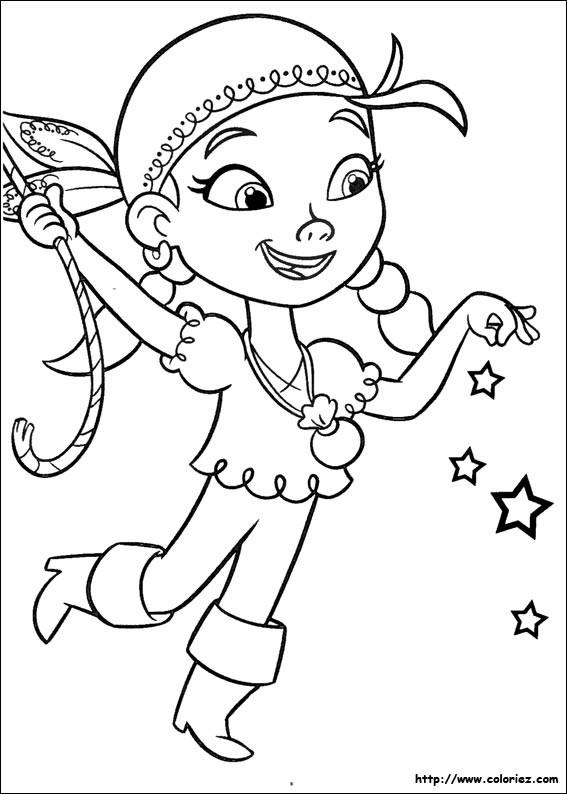 Coloriage et dessins gratuits Jack et les Pirates Izzy stylisé à imprimer