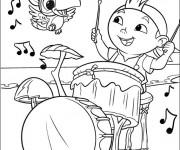 Coloriage Jack et les Pirates le Frisé Musicien