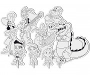 Coloriage et dessins gratuit Jack et les Pirates Personnages à imprimer
