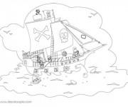 Coloriage Jack et les Pirates pour enfant