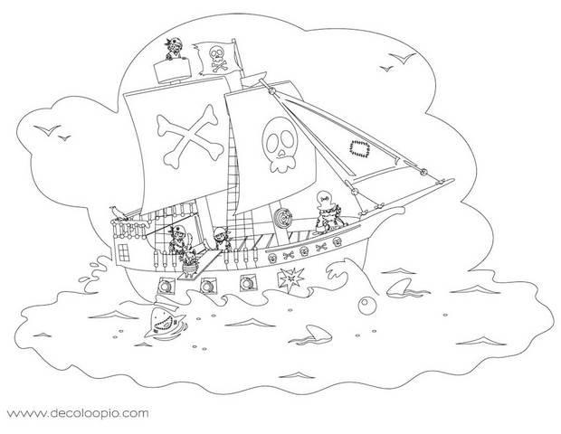 Coloriage et dessins gratuits Jack et les Pirates pour enfant à imprimer