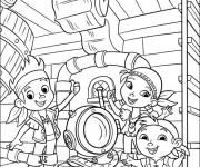 Coloriage et dessins gratuit Jack et les Pirates pour Les Petits à imprimer