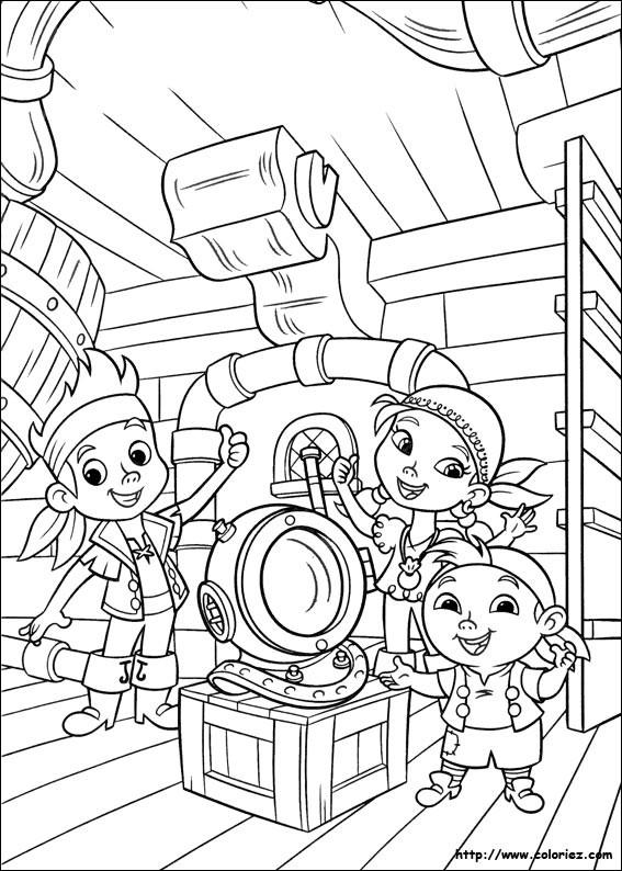 Coloriage et dessins gratuits Jack et les Pirates pour Les Petits à imprimer