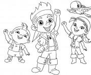 Coloriage et dessins gratuit Jack et ses amis te saluent à imprimer