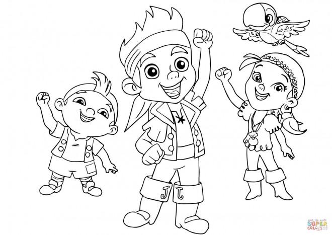 Coloriage et dessins gratuits Jack et ses amis te saluent à imprimer