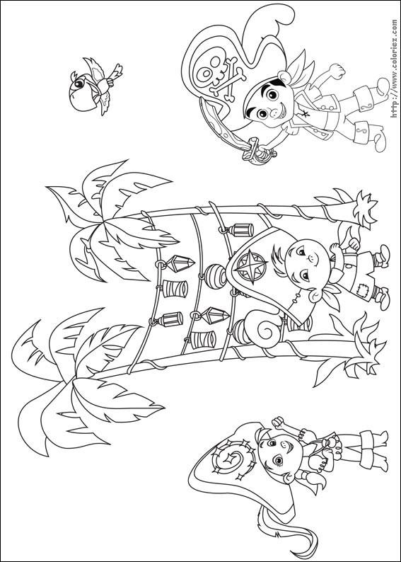 Coloriage et dessins gratuits Jack Izzy et Le Frisé à imprimer