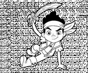 Coloriage Jack  le Petit Pirate porte son Épée