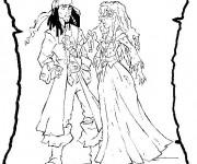 Coloriage Jack le Pirate et La Princesse