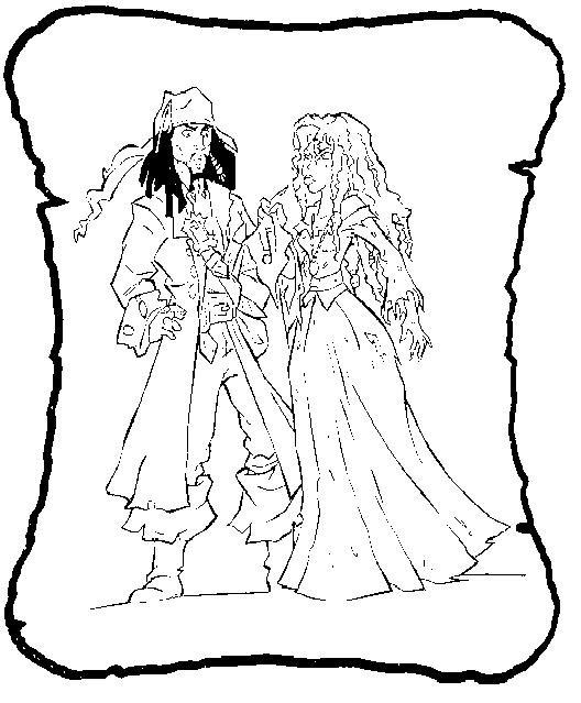 Coloriage et dessins gratuits Jack le Pirate et La Princesse à imprimer