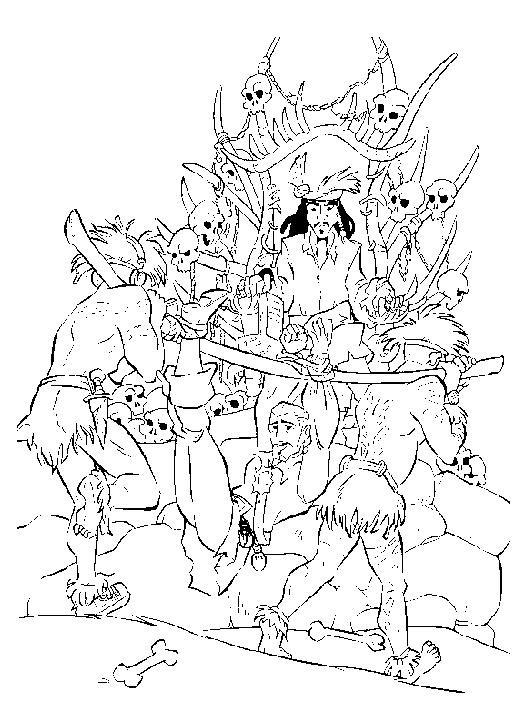 Coloriage et dessins gratuits Jack  le Pirate pour adulte à imprimer