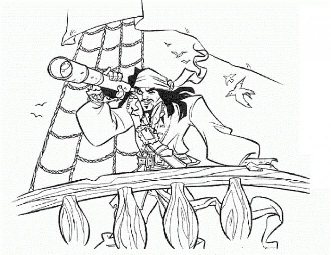 Coloriage et dessins gratuits Jack porte son Binoculaire à imprimer