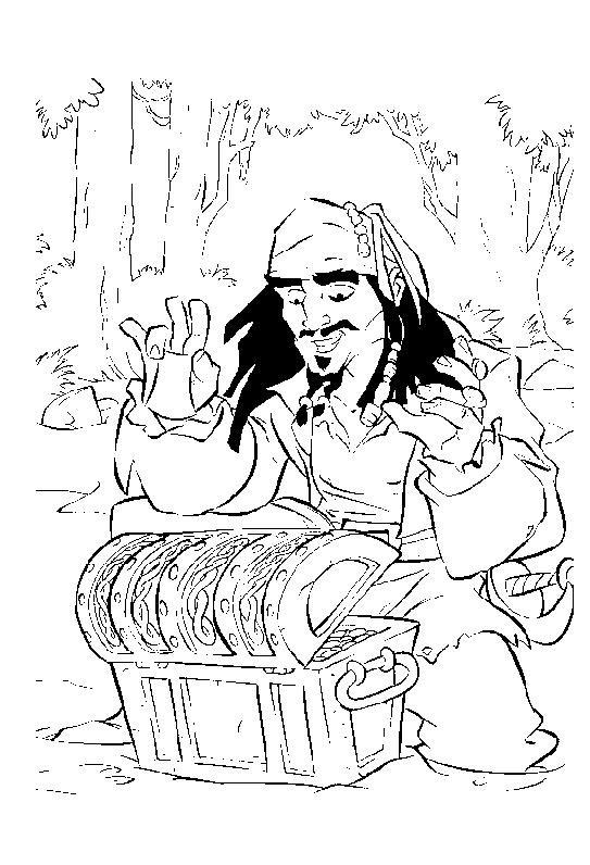 Coloriage et dessins gratuits Jack trouve Le Trésor à imprimer
