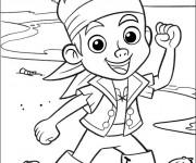 Coloriage et dessins gratuit Jake et les Pirates du Pays Imaginaire à imprimer