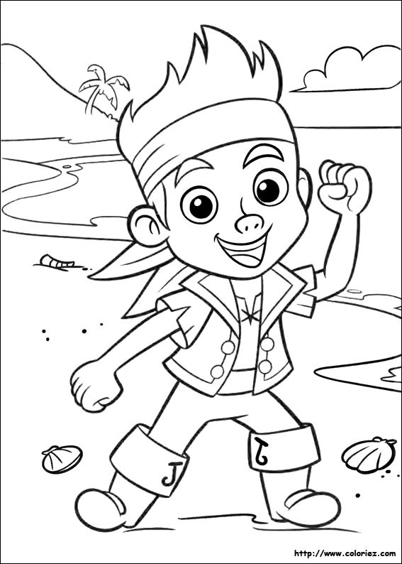 Coloriage et dessins gratuits Jake et les Pirates du Pays Imaginaire à imprimer